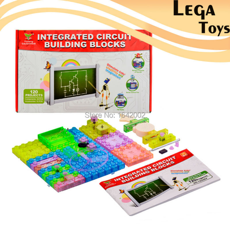 2015 New Electronic Block Toys For Kids Electronic Building Blocks 120 Projects Nobility Parent-Child Educational Best Gift Toys new educational toys for kids game electronic building blocks sets enlighten bricks physics learning best gift for children