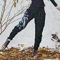 As novas mulheres de vento nacional de arte bordado fazer dobre ampla perna cruzada patas calças calças