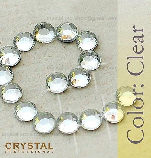 288 pcs 30ss Crystal Clear 6mm wholesale bulk glass ss30 hot-fix iron on design diy Loose bead stone FLATBACK hotfix rhinestones