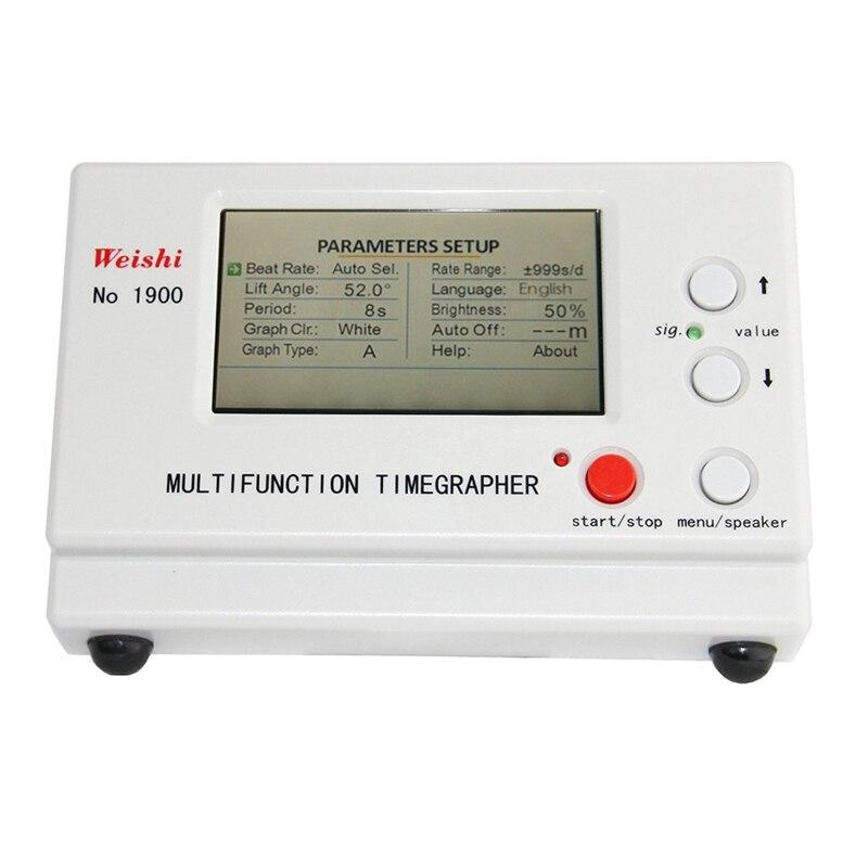 Saatler'ten Onarım Araçları ve Kitleri'de No. 1900 95*54 Büyük lcd ekran Mekanik Saat Test Aracı Çok Fonksiyonlu İzle Zamanlama Timegrapher'da  Grup 1