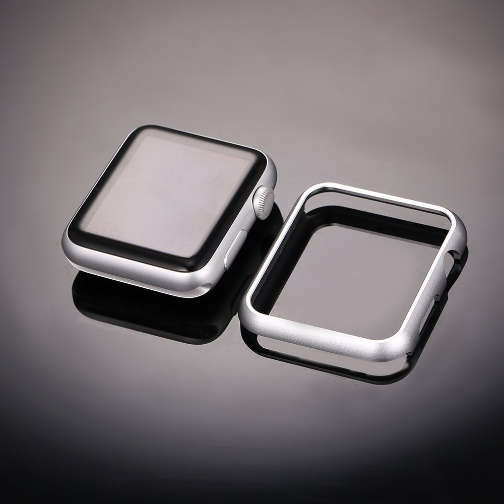 Luxury metal cover for apple <font><b>watch</b></font> <font><b>case</b></font> <font><b>42mm</b></font> 38mm 44mm 40mm strap iWatch series 5 4 3 Aluminum Frame <font><b>watch</b></font> protective <font><b>case</b></font> shell image