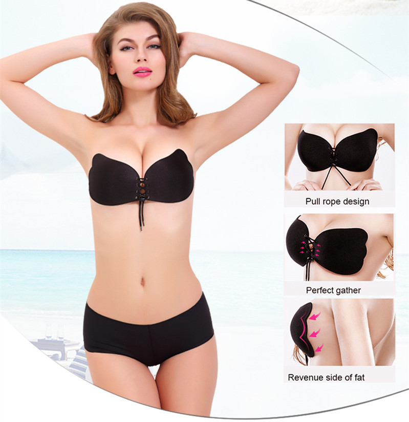 Black Breast Lift Tape Silicone Women Nipple Cover Accessories Sexy Push Up Invisible Bra Tape Boob Sticker Female