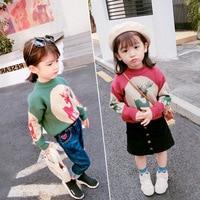 LJWWMTZ Girls sweater cartoon sweater coat 18 autumn and winter wear new children's clothing 3 8 years old DML51008