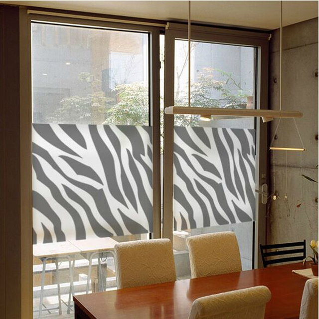 Zebra Bathroom Transparent Window Stickers Removable Cute Cat Wall Stickers  Bedroom Decal Home Decor