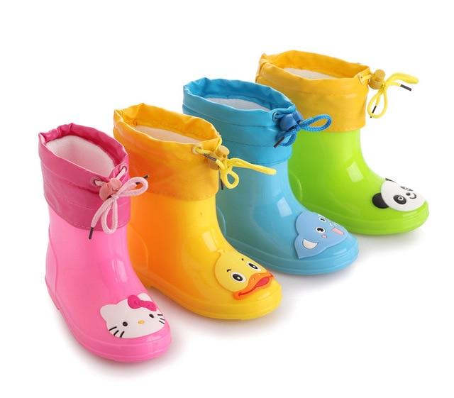 Бесплатная доставка Детская обувь дождь Сапоги и ботинки для девочек зимние для маленьких мальчиков Девичьи зимние сапоги обувь мода детская обувь детские резиновые Сапоги и ботинки для девочек