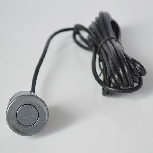 4 датчика s 22 мм английский человеческий голос ЖК-датчик парковки Комплект дисплей Автомобильный радар заднего хода монитор система 12 в 8 цветов - Название цвета: Серый