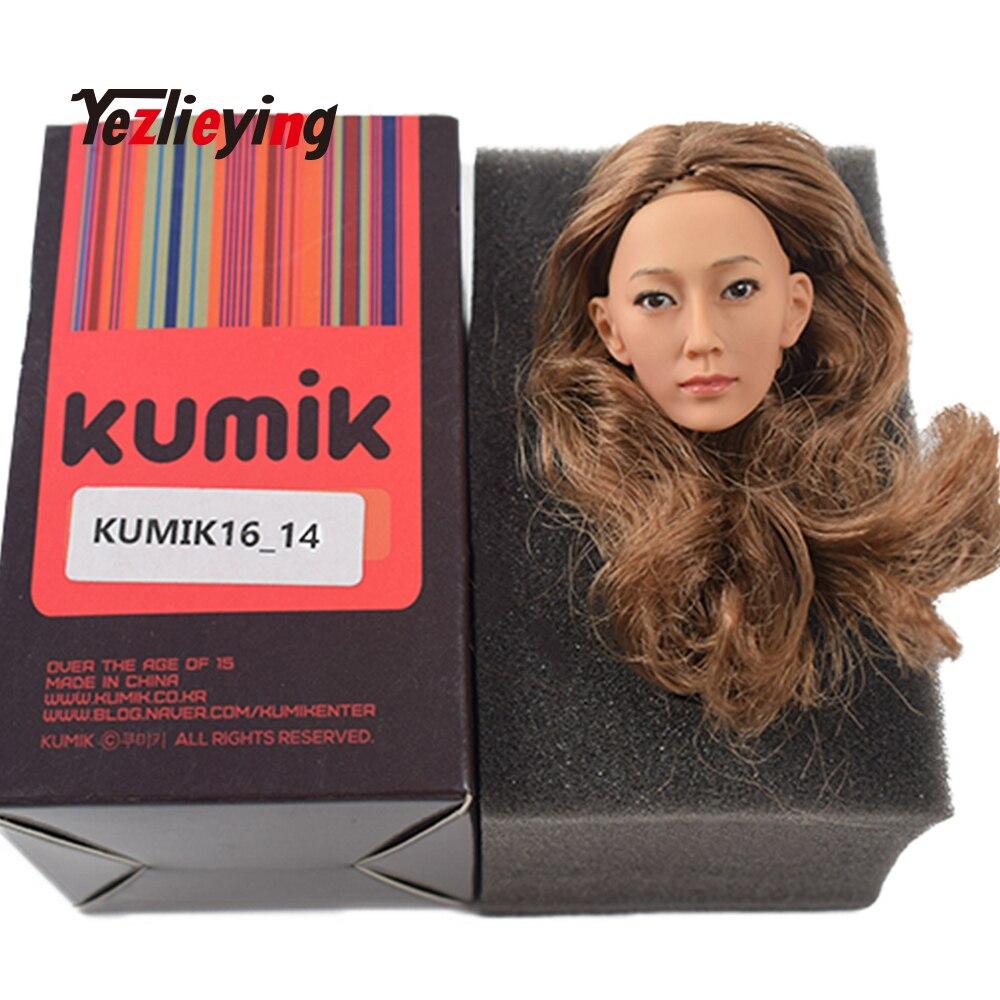 1//6 Accessories Head Sculpt KUMIK 16-30 Model Hair Female Fit 12/'/' Figure Action