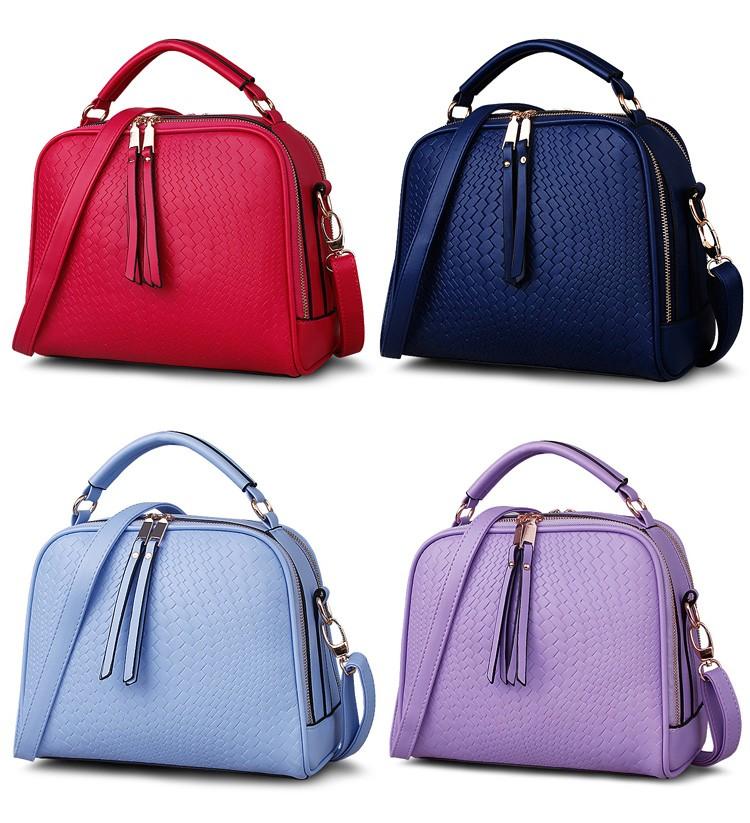 2015 Autumn New Arrival Women Weave Tassel Women PU Leather Handbags Women Shoulder Bag Ladies Casual Messenger Bags BH1150 (8)
