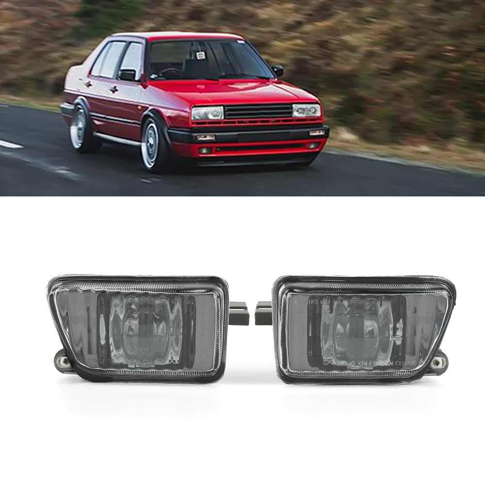 2Pcs Projector Signal Fog Lights Left Right Driving Lamps for VW Jetta MK2 1992-1996 ABS Plastic without bulbs T 2pcs left