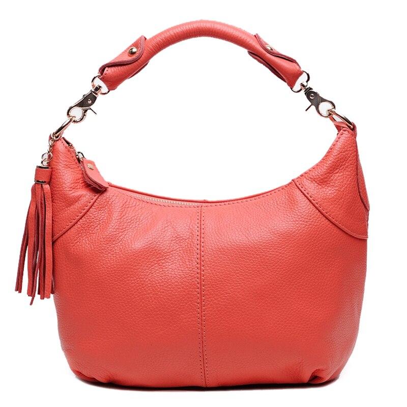 7colors women shoulder bags cow leather 2017 new european woman party fashion brand vintage genuine leather vintage handbags in Shoulder Bags from Luggage Bags