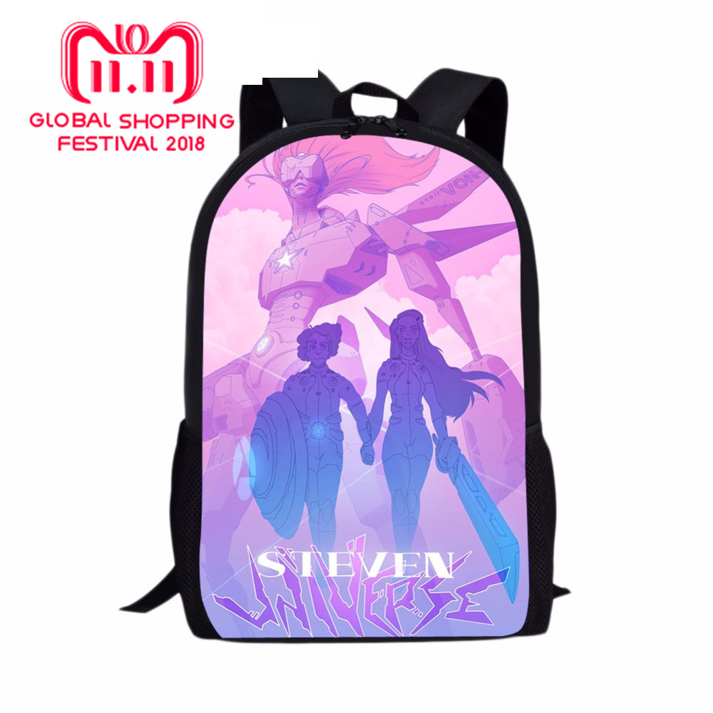 db99d6e7833d steven universe pin Printed Pencil Case Backpack School Bag Lun box For Children  Kids Boy Act and eat sweets together
