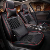 Натуральные деревянные бусы автомобиля сиденья массажная подушка роскошные кожаные автокресло Стайлинг для Nissan Altima Rouge X trail Murano S