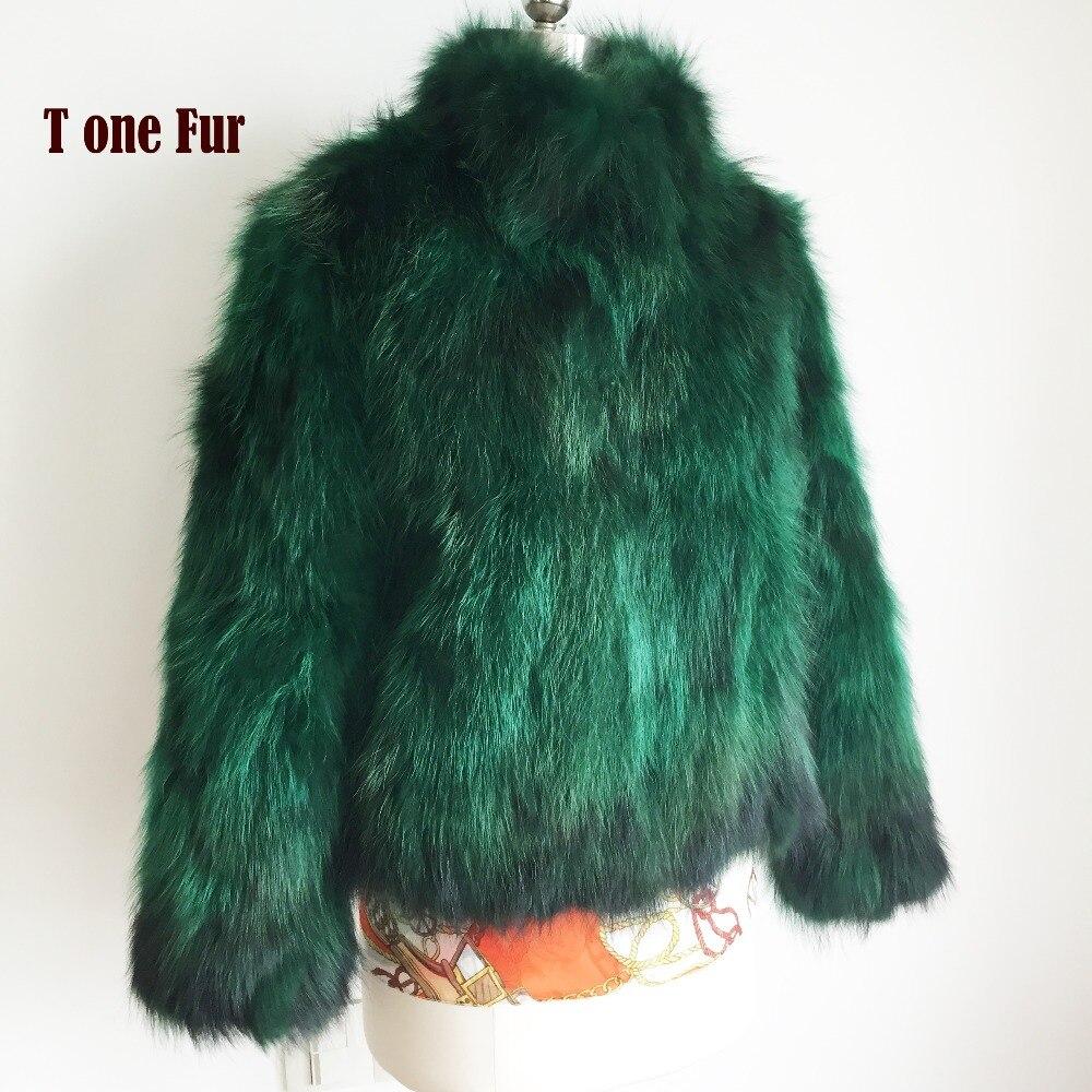 100% Real Raccoon Fur Coat Mandarin Collar Natural Raccoon Fur Jacket Standard Collar Fur Overcoat Custom Big Size Fur KSR3