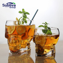 Прозрачная Хрустальная стеклянная чашка с черепом для виски, вина, водки, домашняя Питьевая Посуда, Подарочная чашка для мужчин