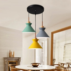 Image 3 - Pack of 3 Dining Table Lamp Lights Macaroon Colorful LED Modern Pendant Lamp Hanglamp for Kitchen Island Ceiling Room Lighting