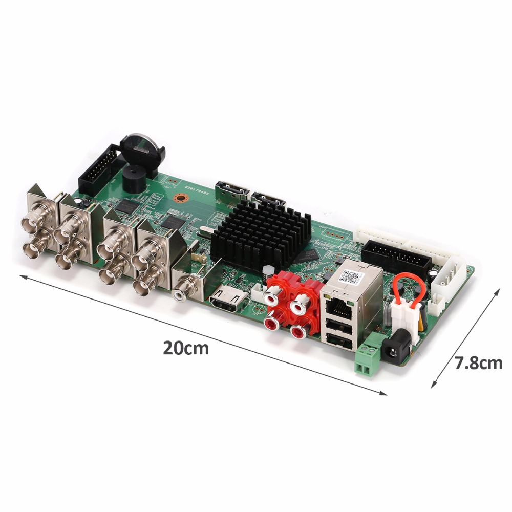Image 3 - AZISHN HD H.264+/H.264 AHD DVR 8CH 4MP Security CCTV  TVI CVI AHD XVI Analog IP Hybrid VGA HDMI CCTV Video Recorder Main Borad-in Surveillance Video Recorder from Security & Protection