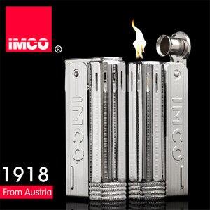 Image 2 - Klassische Echtes IMCO Benzin Leichter Allgemeine Leichter Original Öl Benzin Zigarette Gas Fackel Leichter Zigarre Feuer Reinem Kupfer