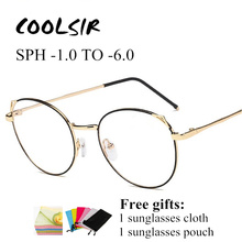 SPH -1.0 to -6.0 Finished Prescription Glasses For Myopia Men Women Upscale Cat Eye Spectacles Nearsighted With Diopter UF43