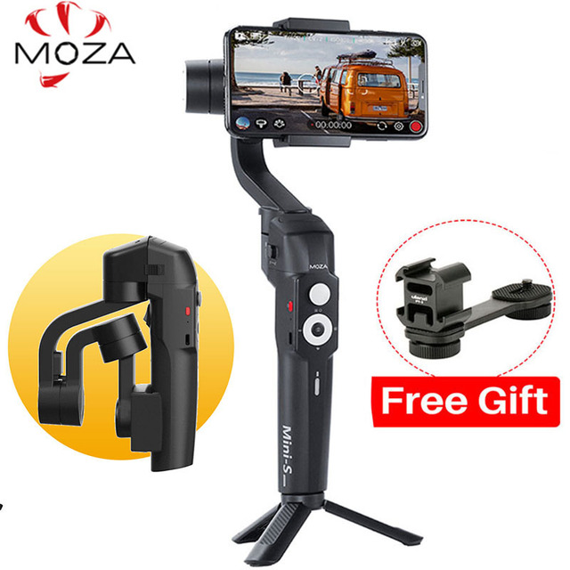 Foldable Moza Mini-S 3-Axis Phone Gimbal Stabilizer for iPhone X Huawei Samsung GoPro 7/6/5 DJI Osmo Action VS Mini-Mi Smooth 4