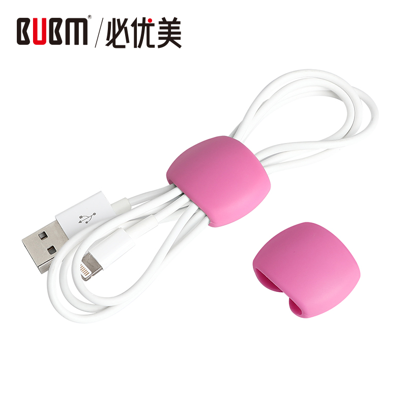 BUBM Colorful Cable Clamp Wire Clip Holder Data Wire Organizer For Phone Computer