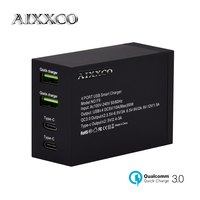 AIXXCO Quick Charge 3.0 Type C Mobile Phone Charger USB Desktop & Wall Charger Smart Quick Charging for Samsung Galaxy S8 Xiaomi