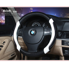 New Style Car Steering Wheel Cover All year Leather Size 38cm For VW Skoda Chevrolet Ford Nissan etc. 95% Cars