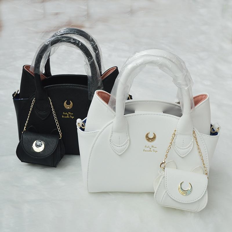 Handbag Cat Messenger-Bag Sailor-Moon Samantha Vega Design Luna/artemis Brand Ear