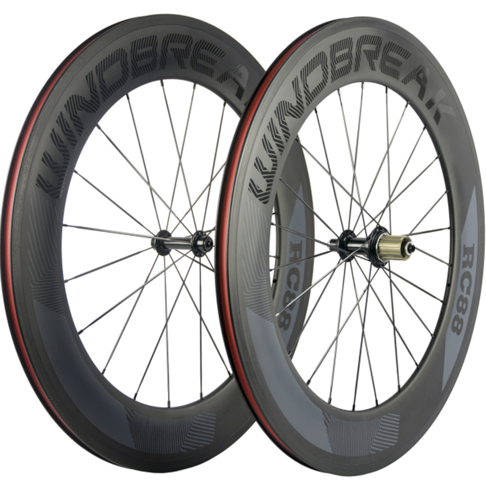 WINDBREAK Road Bike Clincher Carbon Wheels R13 Hub 88mm Carbon Wheelset China 3k Matte Cycling Bicycle Wheel 1350g 38mm clincher straight pull racing road bike carbon wheels bicycle carbon wheelset for r36 hub