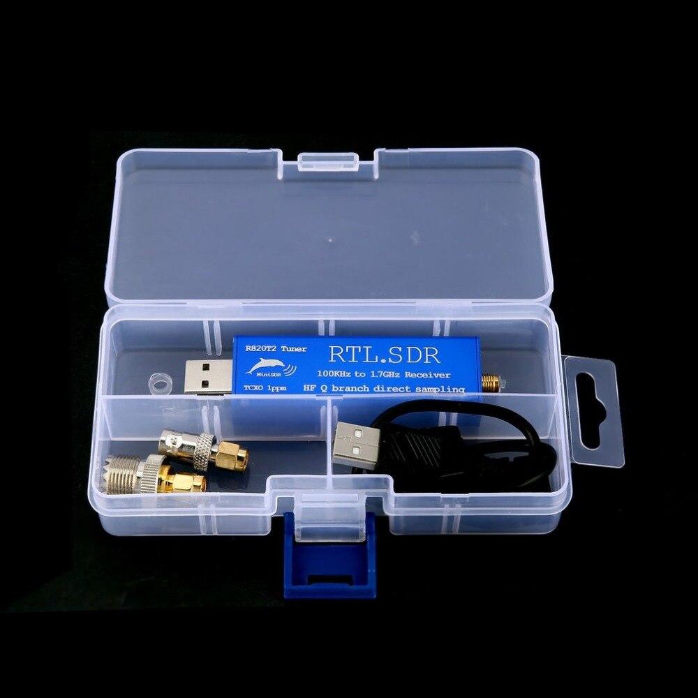 100 KHz-1.7 GHz bande complète RTL. SDR Upconverter USB Tuner récepteur 2832U + R820T Radio récepteur de Tuner Radio défini par logiciel