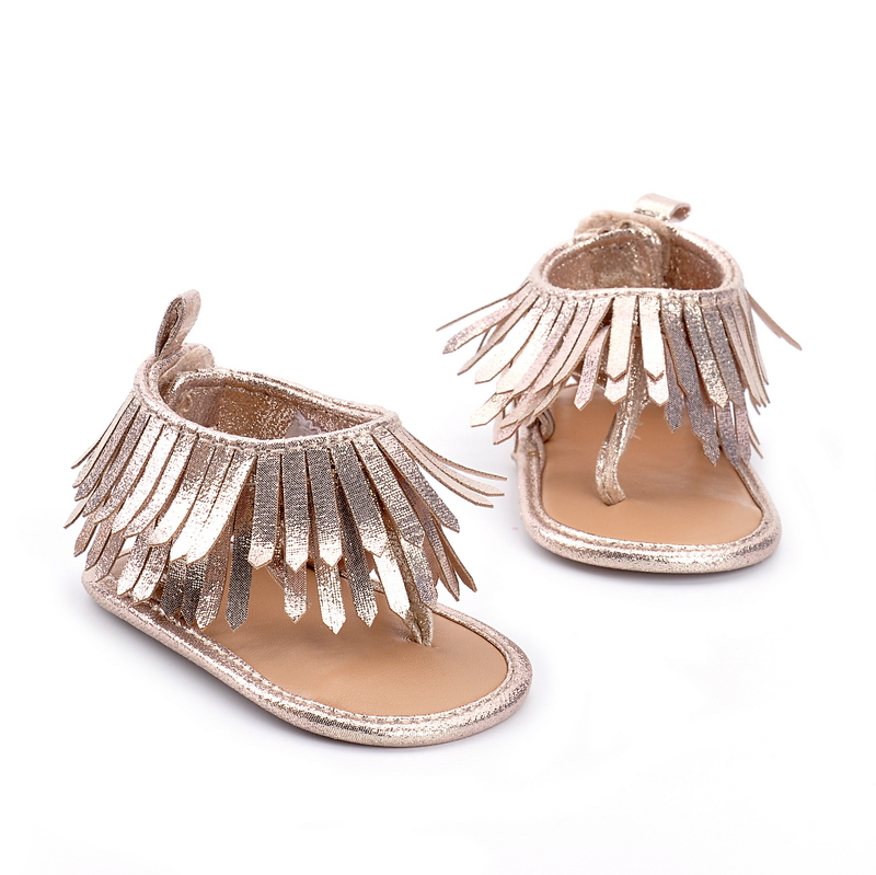 Tassel Summer Sandals Hongteya Baby Fashion Moccasins Gold nO8PXk0Nw