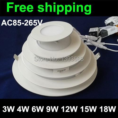 vékony vékony panel alsó lámpa 3W 6W 9W 12W 15W 18W 2835SMD AC85 - LED Világítás