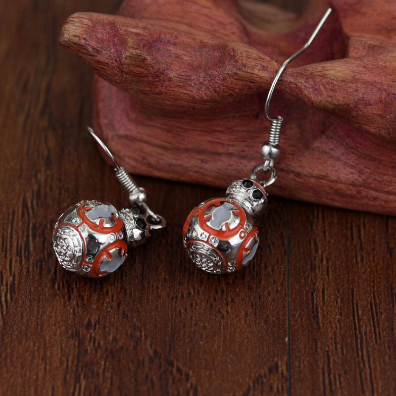 Star Wars the Force Awakens BB8 Millennium Falcon Pendant Earrings