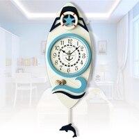 Молчание настенные часы МАЯТНИК Часы парусный спорт Книги по искусству Средиземноморский Стиль модные настенные часы