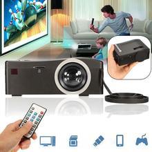 Full HD 1080 P del Teatro Casero LED Proyector Multimedia Cine TV HDMI Negro EE. UU. inicio proyector hdmi proyector APE