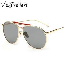 VeBrellen Polarized Pilot Sunglasses Men Vintage Brand Designer Alloy Sun Glasses gafas oculos de sol masculino VJ066