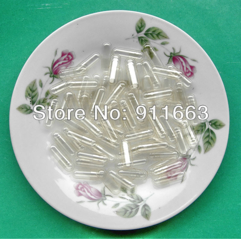 0 10 000pcs clear clear hard gelatin empty capsules empty gelatin capsules size 0 joined or