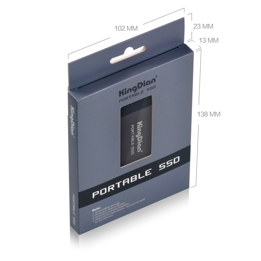 KingDian Portable 500 GB 250 GB 120 GB SSD USB 3.0 3.1 Externe Solide State Drive Meilleur cadeau pour les hommes d'affaires - 3
