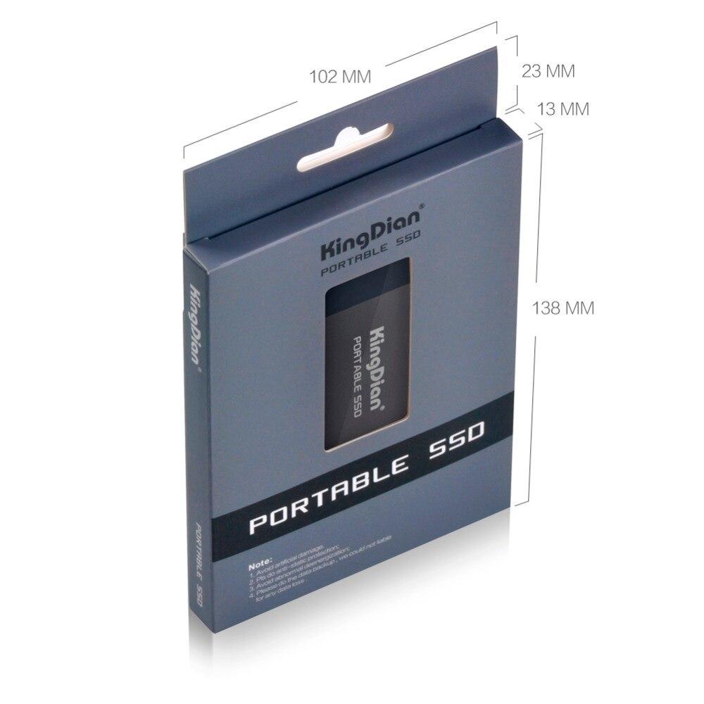 KingDian Portable 500 GB 250 GB 120 GB SSD USB 3.0 3.1 lecteur à semi-conducteurs externe meilleur cadeau pour hommes d'affaires - 3