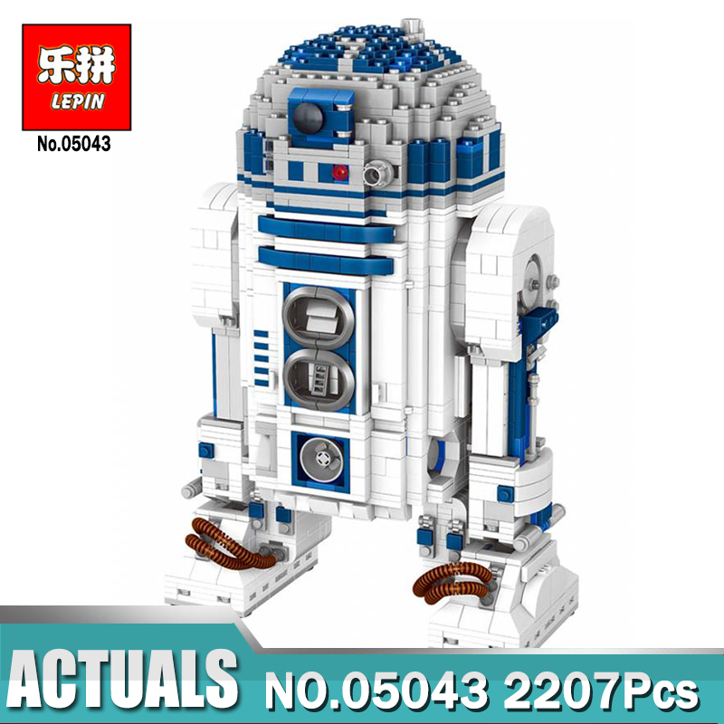 Lepin 05043 Star-wars Series R2-D2 building bricks blocks Toys for children boys Game Weapon Compatible with Legoing 10225 Toys lepin 22001 imperial flagship building bricks blocks toys for children boys game model car gift compatible with bela decool10210