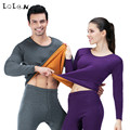LOLEN Super Soft Gold Armor Warm Suit Autumn and Winter Double Layer Add Thick Thermal Underwear for Women
