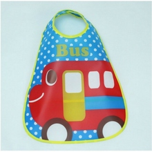 Adjustable Baby Bibs EVA Plastic Waterproof Lunch Feeding Bibs Infants Cartoon Bibs Summer Styles