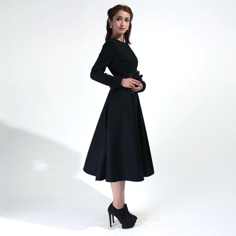 40 Winter Women Vintage 50s Audrey Hepburn Swing Midi Wool
