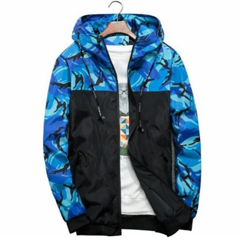 Spring Autumn Mens Casual Camouflage Hoodie Jacket Men Waterproof Clothes Men's Windbreaker Coat Male Outwear 4
