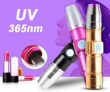UV Lamp USB Rechargeable 3 Mode 365nm Ultraviolet Mini UV LED Flashlight Fluorescer Jade Money Detector UV Curing Light UV LED