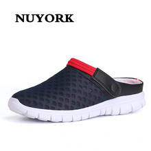 Nuyork Men's summer shoes sandals 2017 new breathable men slippers mesh lighted casual shoes outdoor slip on shoes beach shoes