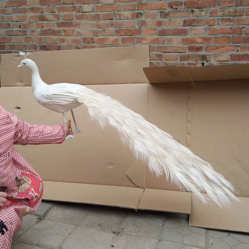 Большой моделирования белый павлин модель полиэтилена и меха красивый павлин кукла подарок около 120 см 0494