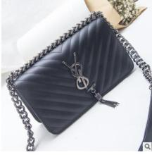 New handbag small fragrance style Messenger bag hardware chain square shoulder bag tide(China)