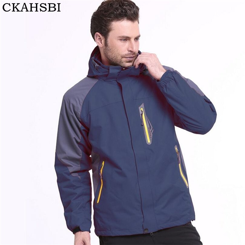 CKAHSBI vestes d'hiver chaud hommes coupe-vent imperméable Camping manteaux hommes et femmes coupe-vent armée vert à capuche hommes vêtements