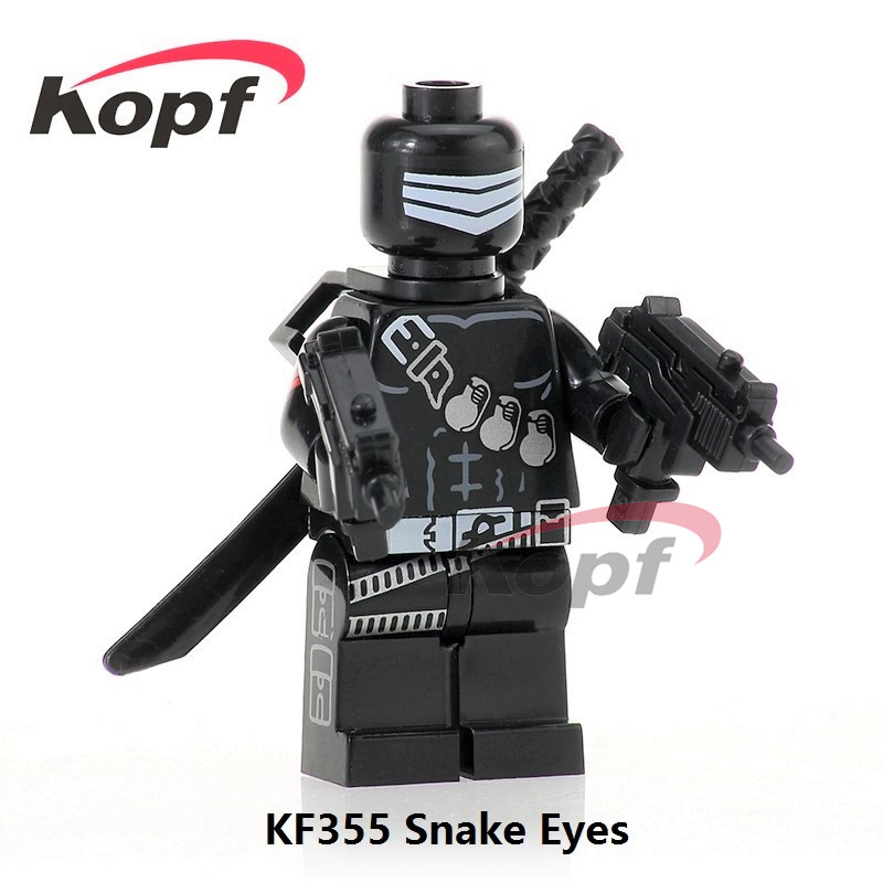 20Pcs KF355 Gi Joe Series Super Heroes Snake Eyes Serpentor Stom Shadow Bricks Action Building Blocks Best Children Gift Toys