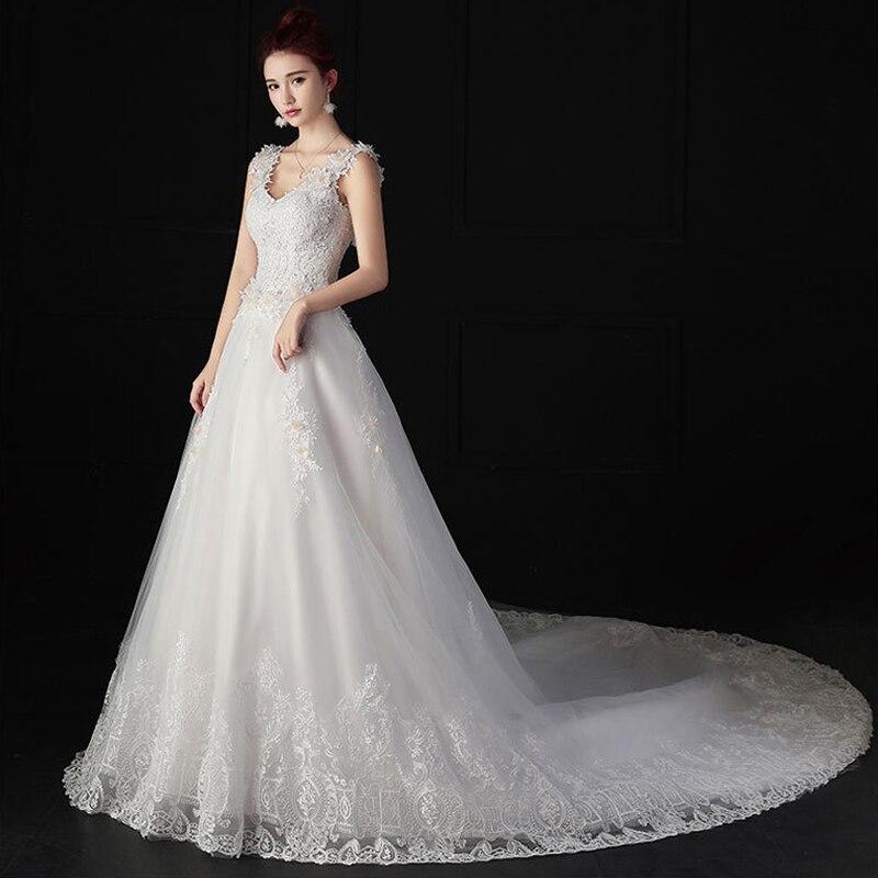 Backless Ivory Bohemian Wedding Dresses 2018 Appliques Lace Edge Plus Size Custom Made A Line Vestido